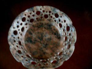 Alabaster Fruit Bowl with pierced edging