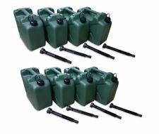 8 x 10 Liter Dieselkanister Benzinkanister UN-Zulassung olivgrün + Ausgießer NEU