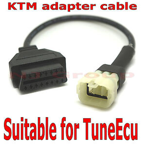 Fits KTM adapter cable for TuneEcu reprogramming diagnostics ECU all pins wired
