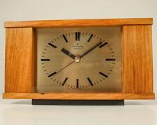 Junghans resonic Tisch Uhr Teak Holz Quartz 60er Vintage German Desk Table Clock