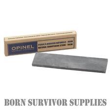 OPINEL NATURAL SHARPENING STONE 10cm Pocket Sized Survival Knife Tool Sharpener