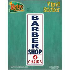 Barber Shop 4 Chairs Vinyl Sticker Vintage-Style Laptop Decal