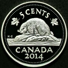 2014 Canada 5 Cents Proof Silver 99.99% #11765