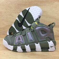 super popular 55f96 b111e Nike Air More Uptempo Womens SZ 9.5 Dark Stucco-White IRIDESCENT Green New  Shoe