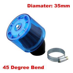 35mm Water Proof Bent Air Filter Cleaner PIT Dirt Bike 110cc 125cc ATV Buggy