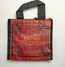 """Natural Life recycled plastic bag. 6""""x5.5"""" Small Gift Bag  FRIENDS FOREVER"""