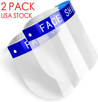 Lot 2 Pack Full Face Shield Reusable Washable Safety Protection Cover