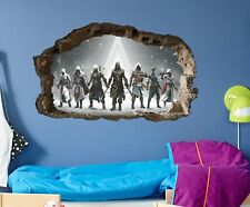Assassin's Creed Parade Mural Gamer's Wall Art Gaming Sticker Den man Cave game