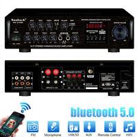 2000W EQ 110V bluetooth 2 Channel Power Amplifier Car Home Stereo AMP FM Audio