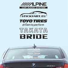Rear window car decal (x5) set aftermarket brands support stance dope sticker