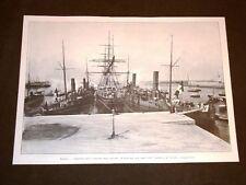 Livorno nel 1905 Consegna bandiere di battaglia a Regie Navi Agordat e Coatit