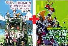 DVD Japan Anime DIGIMON ADVENTURE TRI The Movie Saikai & Ketsui English Sub NEW