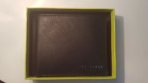 Ted Baker Men's Leather Wallet - Exotic Contrast Bifold Wallet BRAND NEW w TAGS