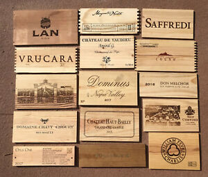 Wood Wine Box 15 Panel lot Crate lids & ends NAPA French. Cellar Wall