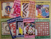 1986 +1987 +1988 +1989 4 full years vintage issue Quilter's Newsletter Magazine