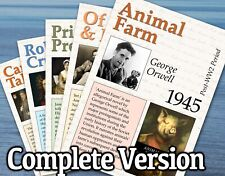 SET OF 100 ENGLISH LITERATURE POSTERS FOR CLASSROOM / LITERACY - FREE DELIVERY