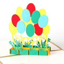 3D Pop Up Greeting Cards Balloon Children's Day Birthday Congratulations Thanks