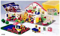 Vintage 1988 Lego Duplo White LARGE PLAYHOUSE EDUCATIONAL SET #9168 170 Pc    A4