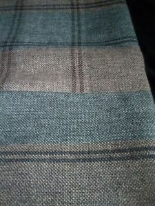 """Grey and brown wool designer throw 49""""x36"""