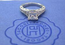 Engagement Ring Pt950 H-Vs2 Tacori Platinum Princess Cut Diamond
