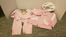 Paul Frank 3-6M Pink Bodysuit Pant Jacket Lot of 3 #15