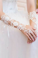 Wholesale JOBLOT 68 Pairs WHITE Floral Lace Wedding Gloves Elbow Length