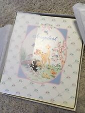 NOS C.R Gibson scrapbook Walt Disney Bambi *blank white pages*