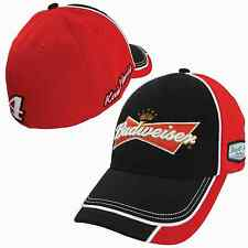 Kevin Harvick Chase #4 Budweiser Garage Stretch LG/XL Fitted Hat FREE SHIP!