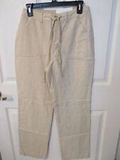 NWT - CROFT & BARROW Linen Blend ladies pants - sz 14 - MSRP $50.00 - Flax color