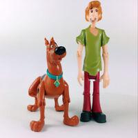 "Lot 2Pcs SCOOBY-DOO Classic Monster Shaggy & Shaggy Dog 5"" Figure toy doll"