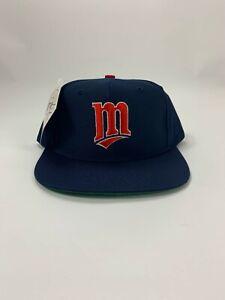 Vintage 1990s MLB Minnesota Twins Snapback Hat NWT Ed West Signatures Youth