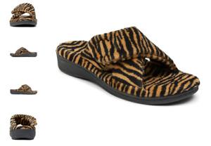 Vionic Relax Tiger Print Natural Terry Slide Slipper Women's sizes 5-12 NEW!!!