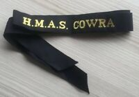 H.M.A.S COWRA GENUINE RAN  TALLY BAND  ~  220+ SHIPS NAMES AVAILABLE .
