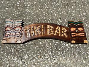 TIKI BAR TROPICAL SIGN WALL HANGING ART ISLAND HOME DECOR