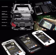 For iPhone X 8 7 6 Plus 5S 4 Gorilla Glass Shock Water Proof Aluminum Cover Case