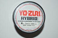 yo zuri fluorocarbon nylon hybrid 4lb smoke 600yds spool fishing line NEW
