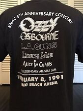 Ozzy Osbourne 91 KNAC Alice In Chains Tour Shirt Sz XL Lynch Mob Metal LA Guns