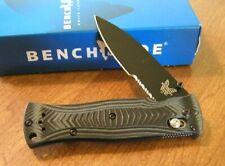BENCHMADE New Mel Pardue G10 Folder Black Combo Edge 154CM Blade Knife/Knives