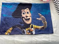Vintage Disney Pixar Toy Story Woody Buzz Microfiber Pillow Case (Fabric) Euc