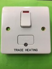 MK K1060WHI 13A DP SWITCHED FUSE NEON SPUR ENGRAVED 'TRACE HEATING'