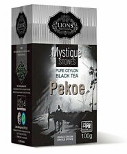 Lions Tea Mystique Stones Pure Ceylon Black Tea Pekoe 100g 3.527ounces Cartons