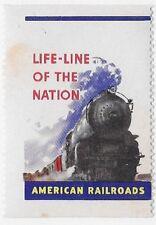 "USA Cinderella: American Railroads - Life-Line of the Nation ""MNH"" - dw123s3"