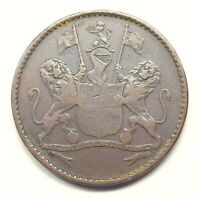 1821 St. Helena & Ascension Halfpenny, KM-A4.