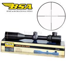 BSA 3-9x40Fully Coated Optics Sight Riflescope HD Glass + One-Piece Red Laser US