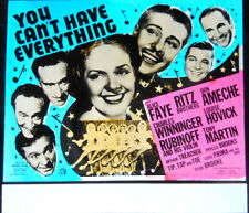 """Orig. Glass Slide - """"You Can't Have Everything"""" - ALICE FAYE - RITZ BROS. - 1937"""