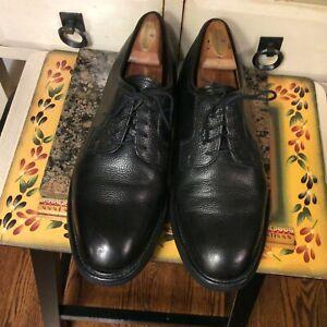 BROOKS BROTHERS Mens Dress Shoes Black Leather Lace Up Plain Toe Oxford 10.5