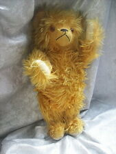 """ACTRESS JANE WITHERS ESTATE 20"""" GOLDEN AMBER EXTRA LONG MOHAIR BEAR w/ PULL CORD"""