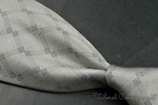 "GUCCI Silver Geometric Box Dot 100% Silk Mens Luxury Tie - 3.75"""
