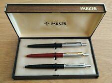 New Parker Jotter Pen Set in Wooden Box
