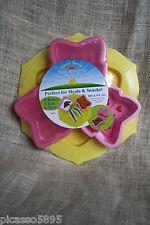 Sunny Patch Bella Butterfly Bowls & Tray Set BPA & PVC FREE Kids Snack Saver Set